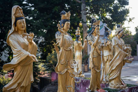 Different statues in Monastery