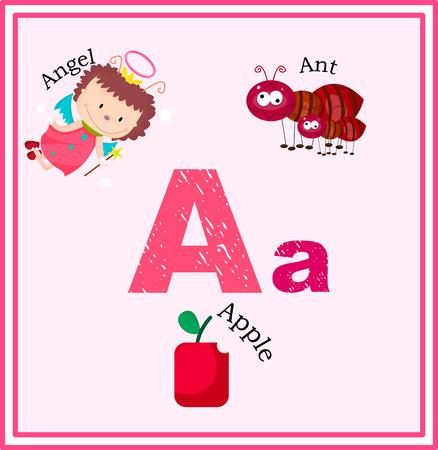 Een Geweven Brief met woordenlijst op kleurrijke achtergrond Stock Illustratie