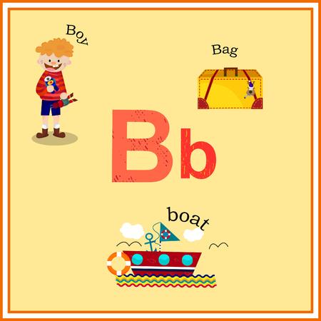 B Geweven Brief met woordenlijst op kleurrijke achtergrond Stockfoto - 37163372