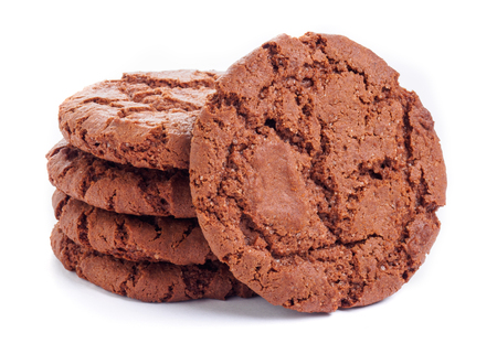 morsels: A Round chocolate cookies. Isolated
