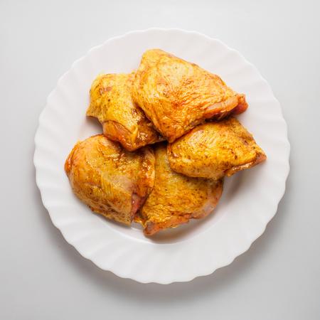 raw chicken shish kebab