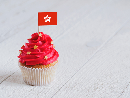 Cupcake with flag