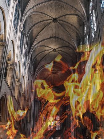 Notre Dame fire. Paris cathedral devastated by blaze.