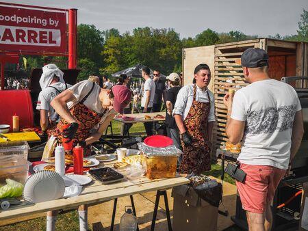 KAZAN, RUSSIA - MAY 11, 2019. BBQ festival