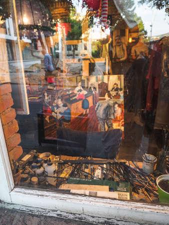 Tbilisi, Georgia - May, 2019. Temuri Kuliani's painting shop in old center of Tbilisi.