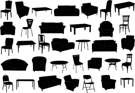 furniture collection   Stock Vector - 7776983