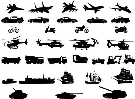 ballon dirigeable: collection de transport  Illustration