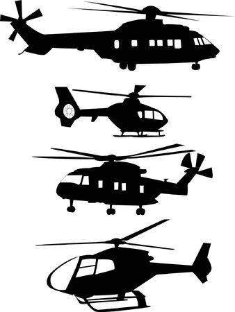 fighter pilot: raccolta di elicottero   Vettoriali