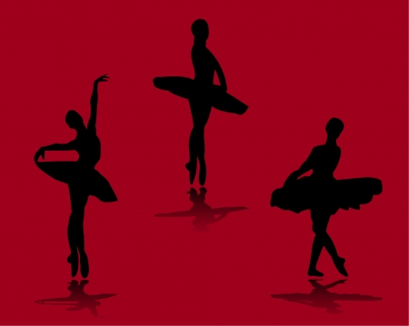 ballerinas with background  Vector