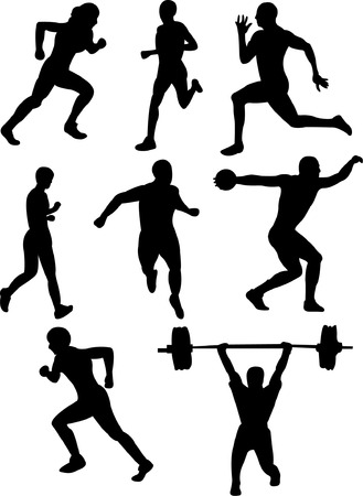 athletics silhouette   Illustration