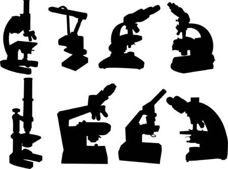 pathologist: microscope collection  Illustration