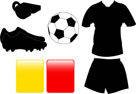 soccer equipment collection   Vector