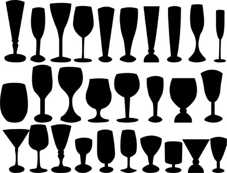 glass collection silhouette  Stock Vector - 7881826