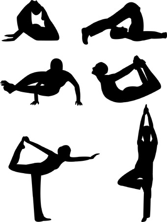 yoga silhouette Stock Vector - 7966864