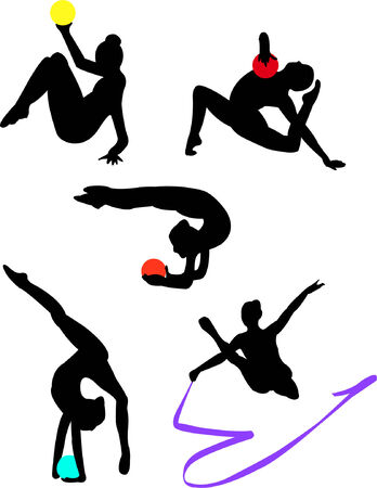 collection of gymnastics Vector