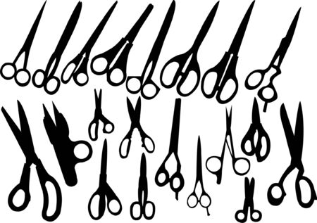 scissors collection Stock Vector - 8023696