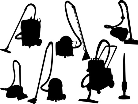 vacuuming: vacuum cleaner silhouette Illustration