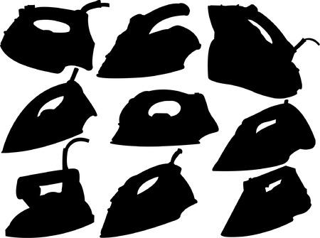 straighten: flat iron silhouette  Illustration