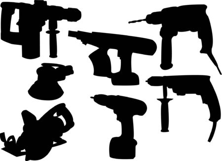 collection of tools silhouette Stock Vector - 8094084