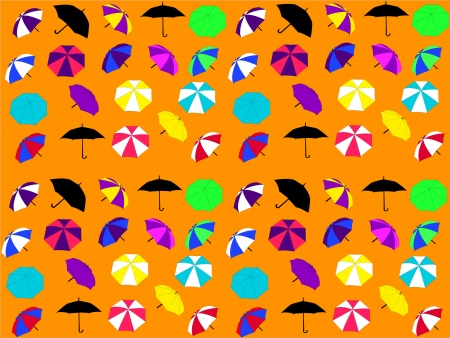 background with umbrellas Stock Vector - 8094970
