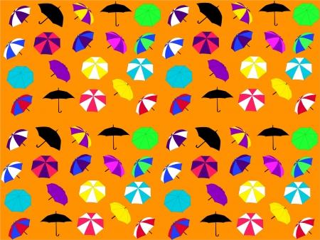 background with umbrellas  Vector