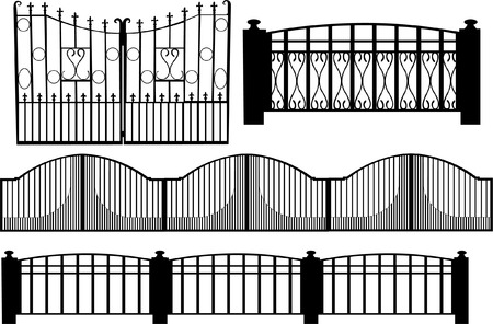 iron fence: gate  Illustration