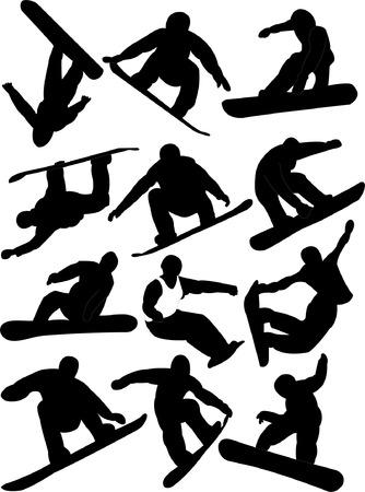 snowboarding collection  Illustration