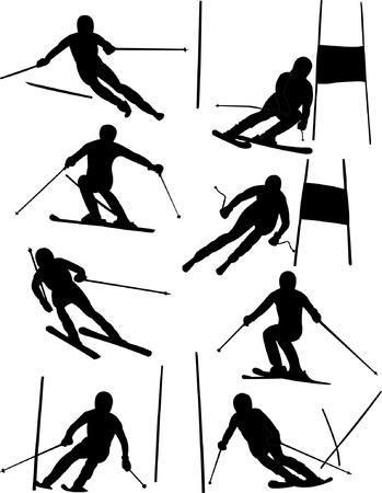 ski jump: alpine skiing collection Illustration