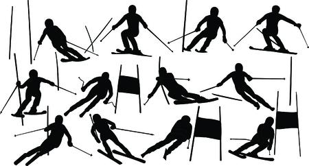 slalom: alpejski kolekcji narciarstwo