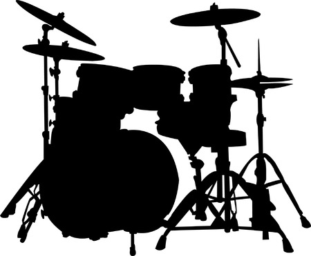 drums silhouette  Vector