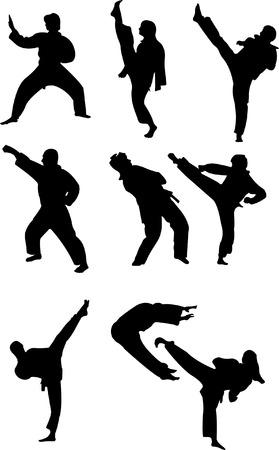 taekwondo collection   Vector