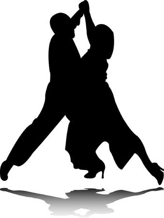 dance silhouette Stock Vector - 8154218
