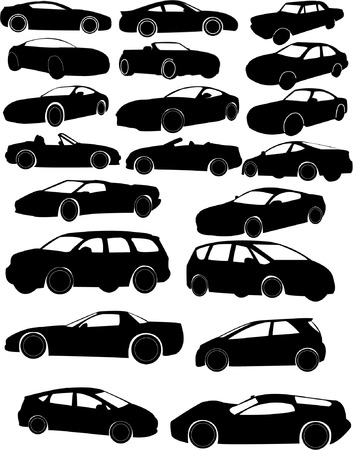 collection of cars Stock Vector - 8154235