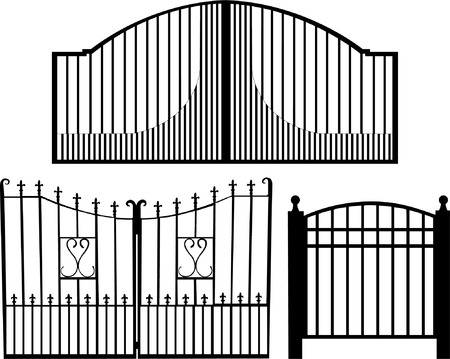 iron bars: gate collection silhouette