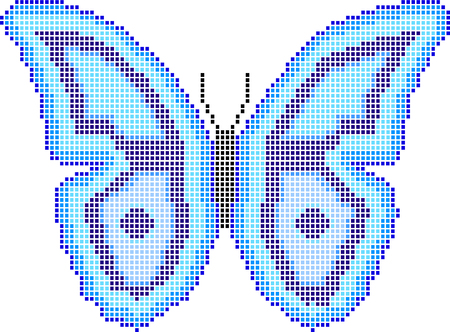 butterfly mosaic  Vector