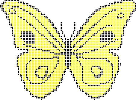 pane: yellow butterfly Illustration