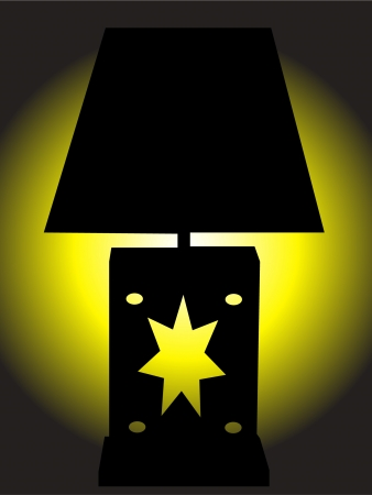 irradiate: lamp with yellow light
