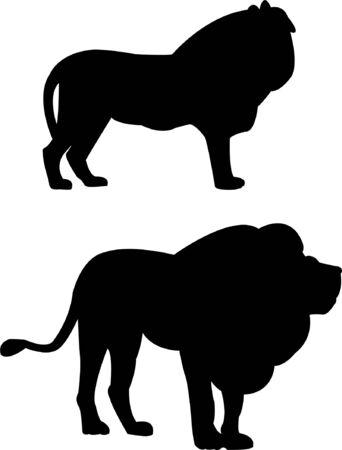 lion silhouette: lion silhouette  Illustration