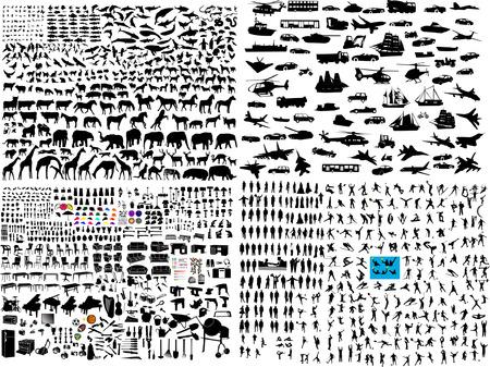 honderden Meng silhouet