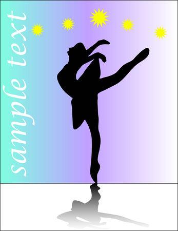 ballerina silhouette - vector Vector