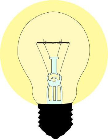 light bulb - vector Stock Vector - 8387668