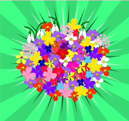 flowers bouquet silhouette collection - vector Stock Vector - 8387666