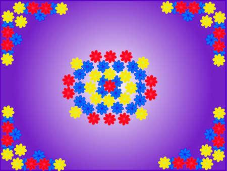 flowers background - vector Stock Vector - 8489949