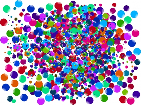 bubbles abstract background  Vector