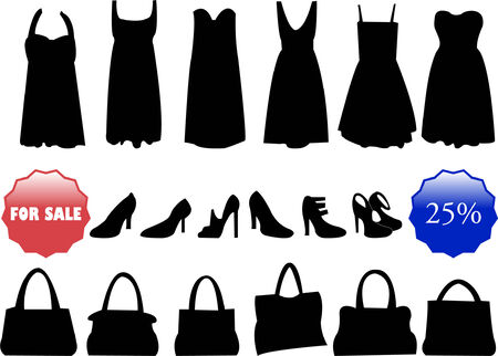 items for sale silhouette - vector Vector