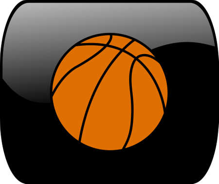 button with ball for basketball - vector Vector