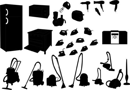 vacuuming: set interno Vettoriali