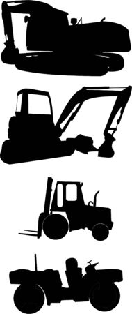 construction machines collection Stock Vector - 8621099