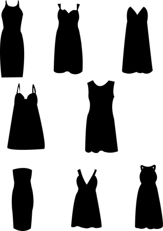 make up woman: dress silhouette Illustration