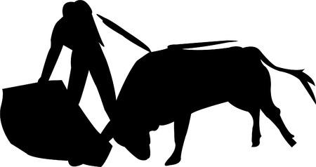 corrida: silhouette Toreador